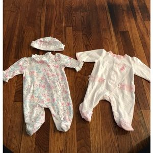 Newborn girl Little Me footies